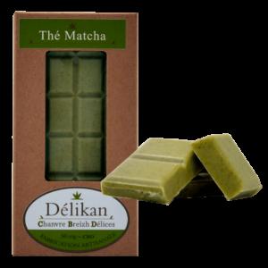 Délikan - Chocolat au CBD Thé matcha 50 mg